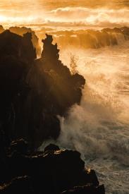 Stormy Atlantic coast