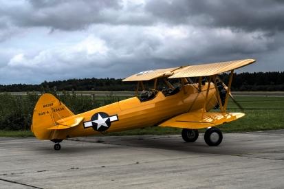 Old plane, biplane