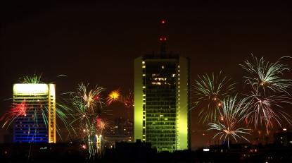 Fireworks over Prague
