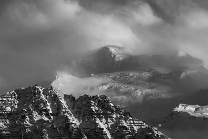 Top of Icelandic glacier