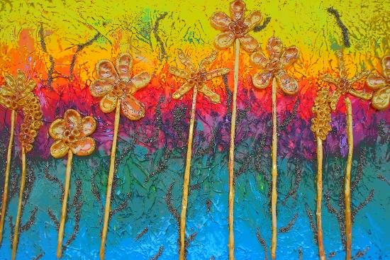 Flowers on a summer meadow