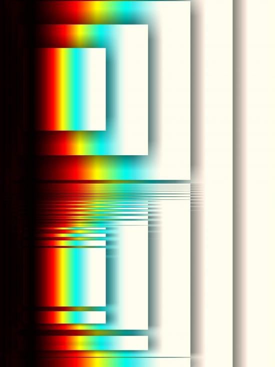 Rainbow in square