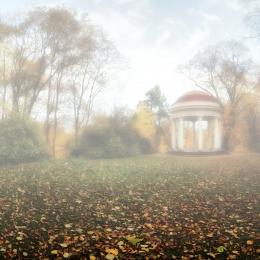 Autumn in the castle park